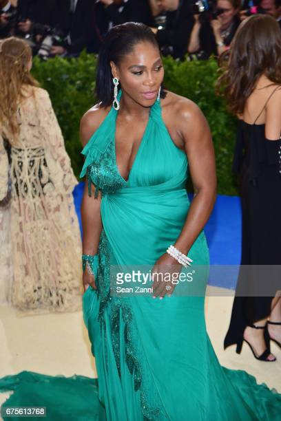 Serena Williams arrives at 'Rei Kawakubo/Comme des Garcons Art Of The InBetween' Costume Institute Gala at The Metropolitan Museum on May 1 2017 in...
