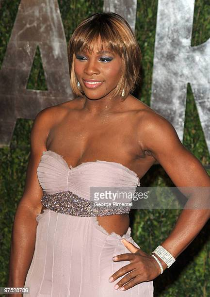 Serena Williams arrives at the 2010 Vanity Fair Oscar Party hosted by Graydon Carter held at Sunset Tower on March 7, 2010 in West Hollywood,...