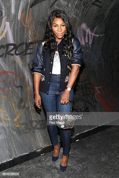 Serena Williams arrives at the Coach 1941 Women's Spring 2017 Show at Pier 76 on September 13 2016 in New York City