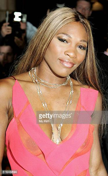 Serena Williams arrives at the World Film Premiere of 'After The Sunset' at Vue Leicester Square on November 2 2004 in London