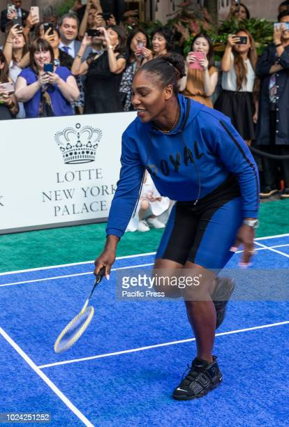 Serena Williams attend Invitational Badminton Tournament at Lotte New York Palace