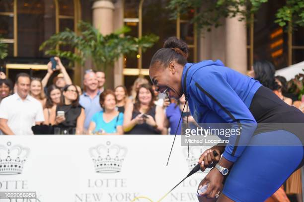 Serena Williams attends 2018 Lotte New York Palace Invitational on August 23 2018 in New York City