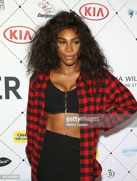Serena Williams attends her Signature Statement Collection After Party September 2016 New York Fashon Week at Bagatelle on September 12 2016 in New...