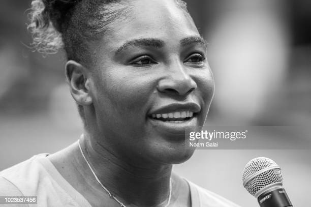 Serena Williams attends the 2018 Arthur Ashe Kids' Day at USTA Billie Jean King National Tennis Center on August 25 2018 in New York City