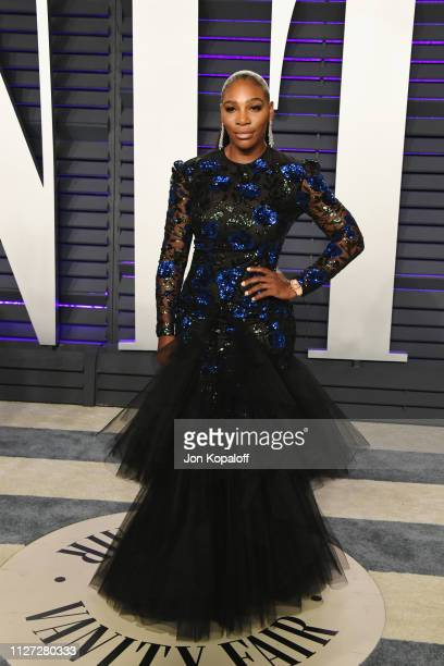 Serena Williams attends the 2019 Vanity Fair Oscar Party hosted by Radhika Jones at Wallis Annenberg Center for the Performing Arts on February 24...
