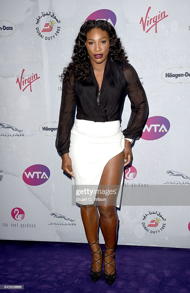 Serena Williams attends the annual WTA Pre-Wimbledon Party presented by Dubai Duty Free at the Kensington Roof Gardens on June 23, 2016 in London, England.