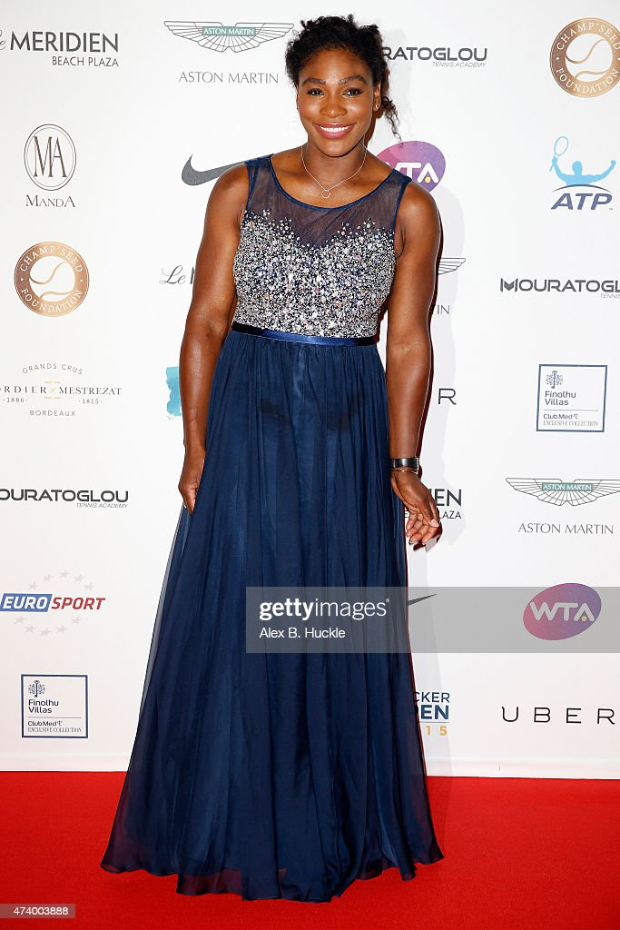 Serena Williams attends the Champ'Seed party on May 19, 2015 in Monaco, Monaco.