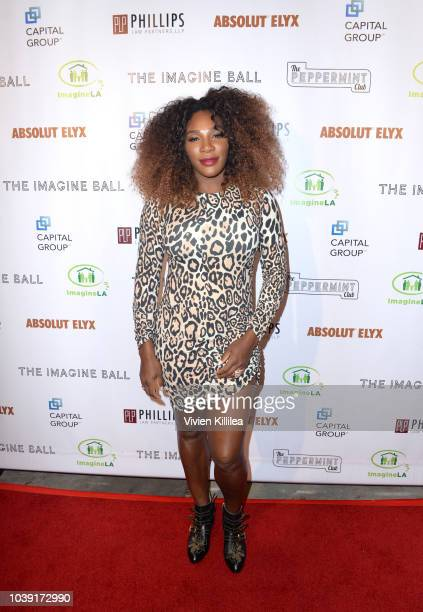 Serena Williams attends The Imagine Ball Honoring Serena Williams Benefitting Imagine LA Presented By John Terzian Val Vogt on September 23 2018 in...
