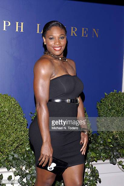 Serena Williams attends the Lebron James Family Foundation Benefit for an evening of cocktails and private shopping at the Ralph Lauren Mansion on...