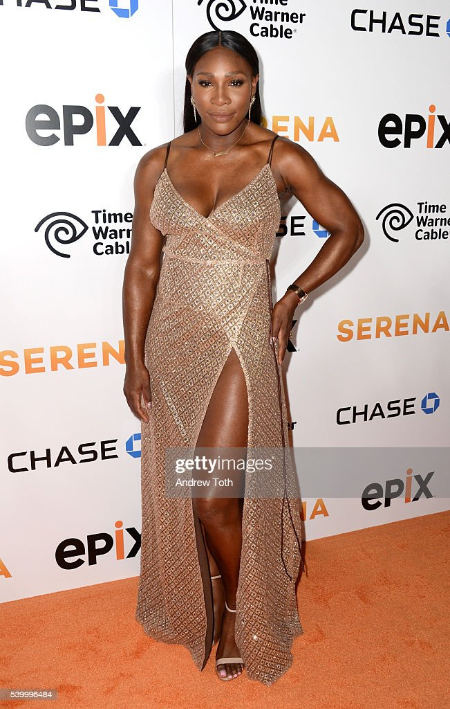 Serena Williams attends the premiere of EPIX original documentary 'Serena' at SVA Theater on June 13, 2016 in New York City.