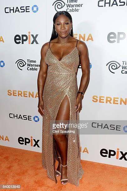 Serena Williams attends The Premiere of EPIX Original Documentary 'Serena' at SVA Theatre on June 13 2016 in New York City