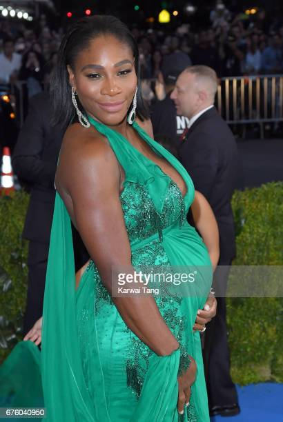 Serena Williams attends the 'Rei Kawakubo/Comme des Garcons Art Of The InBetween' Costume Institute Gala at the Metropolitan Museum of Art on May 1...
