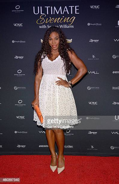 Serena Williams attends The Serena Williams Ultimate Run VIP KickOff on December 12 2014 in Miami Beach Florida