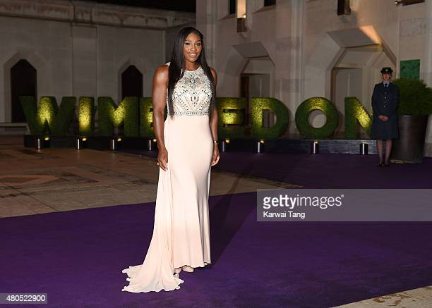 Serena Williams attends the Wimbledon Champions Dinner at The Guildhall on July 12 2015 in London England