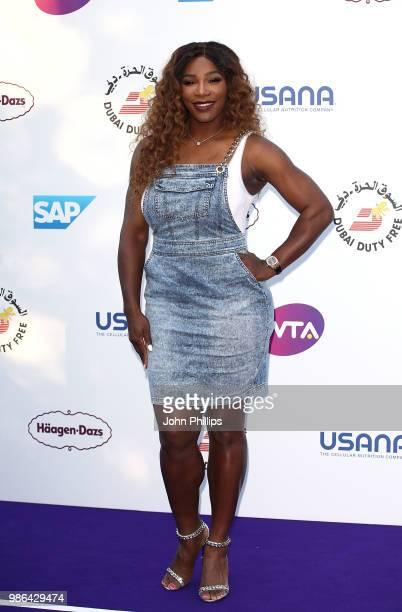 Serena Williams attends the Women's Tennis Association Tennis on The Thames evening reception at OXO2 on June 28 2018 in London England The event was...