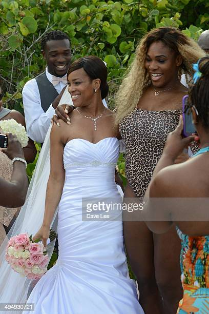 Serena Williams crashes a wedding party at the Soho Beach Hotel on May 31 2014 in Miami Florida