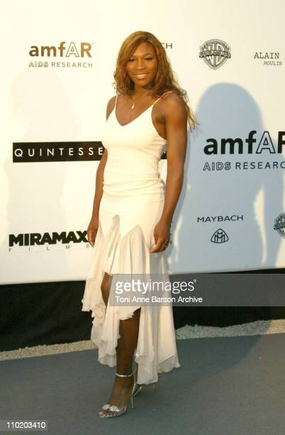 """Serena Williams during amfAR's """"Cinema Against AIDS Cannes"""" Benefit Sponsored by Miramax and Quintessentially - Arrivals at Moulin De Mougins in..."""