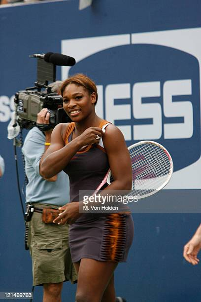 Serena Williams during Arthur Ashe Kids Day at the US Open - August 26, 2006 at USTA National Tennis Center in Flushing, New York, United States.