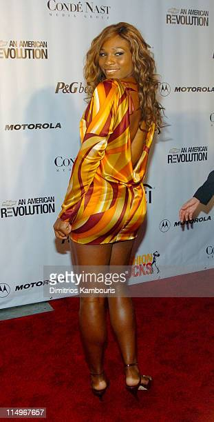 Serena Williams during Conde Nast Media Group Presents Fashion Rocks 2004 Arrivals at Radio City Music Hall in New York City New York United States