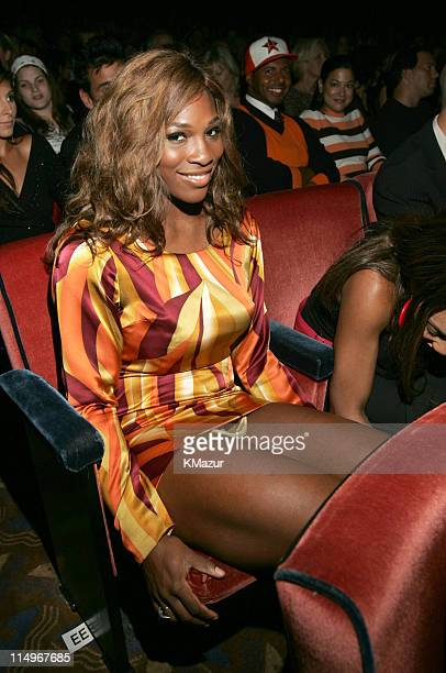 Serena Williams during Conde Nast Media Group Presents Fashion Rocks 2004 Backstage and Audience at Radio City Music Hall in New York City New York...