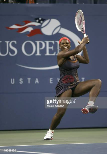 Serena Williams during her third round match against Ana Ivanovic at the 2006 US Open at the USTA Billie Jean King National Tennis Center in Flushing...