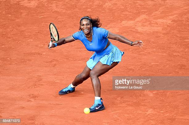Serena Williams during the Women's Singles third round on day seven of the French Open 2016 on May 28 2016 in Paris France