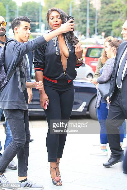 Serena Williams is seen on September 21 2016 in Milan Italy