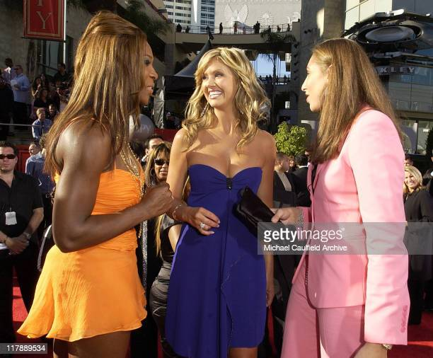 Serena Williams Nancy O'Dell and Diana Taurasi during 2004 ESPY Awards Red Carpet at Kodak Theatre in Hollywood California United States