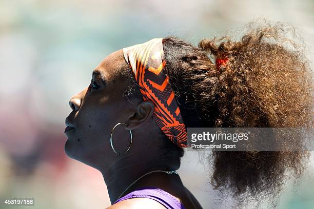 Serena Williams of the United States during her third round match against Ayumi Morita of Japan on day six of the 2013 Australian Open at Melbourne...