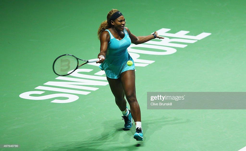 BNP Paribas WTA Finals: Singapore 2014 - Day One : News Photo