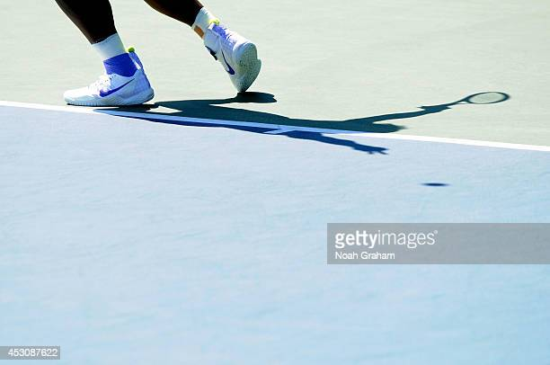Serena Williams of the United States plays against Andrea Petkovic of Germany during Day 5 of the Bank of the West Classic at the Taube Family Tennis...