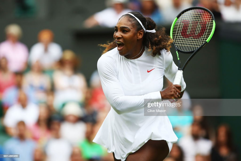 Serena Williams wins again at Wimbledon, closes in on Grand Slam No