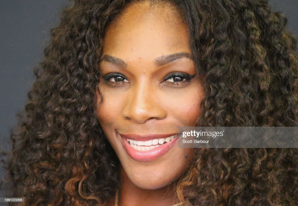 Serena Williams of the USA poses during the launch of her Nike Training Club app workout on January 8, 2013 in Melbourne, Australia.