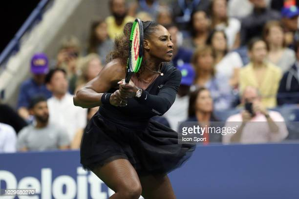 Serena Williams of United States during the women's final of the 2018 US Open Tennis Championships on September 8 2018 in New York United States