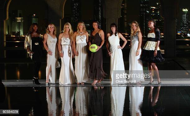 Serena Williams of United States, Svetlana Kuznetsova of Russia, Elena Dementieva of Russia, Victoria Azarenka of Belarus, Dinara Safina of Russia,...