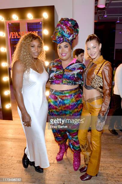 Serena Williams Patrick Starrr and Bella Hadid celebrate the launch of YouTubecom/Fashion on September 09 2019 in New York City