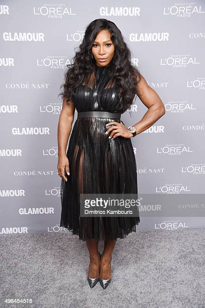 Serena Williams poses for a photo backstage at the 2015 Glamour Women Of The Year Awards at Carnegie Hall on November 9 2015 in New York City