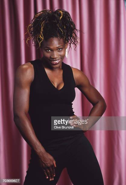 Serena Williams poses for a portrait during the ATP Lipton Tennis Championship on 23 March 2000 in Key Biscayne Florida United States