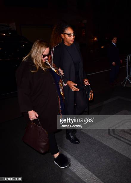 Serena Williams seen arriving to The Mark Hotel on February 19, 2019 in New York City.