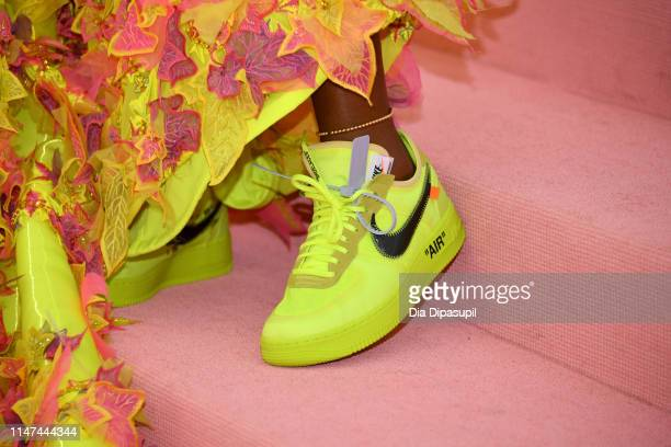 Serena Williams shoe detail attends The 2019 Met Gala Celebrating Camp Notes on Fashion at Metropolitan Museum of Art on May 06 2019 in New York City