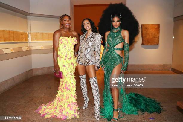 Serena Williams Solange Knowles and Ciara attend The 2019 Met Gala Celebrating Camp Notes on Fashion at Metropolitan Museum of Art on May 06 2019 in...