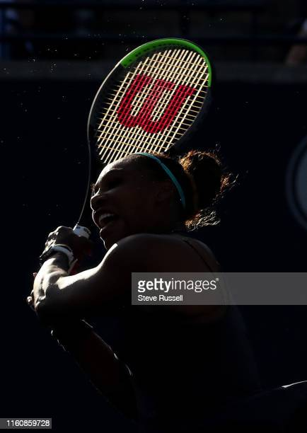 TORONTO ON AUGUST 10 Serena Williams survives a first set scare in the semifinals to beat qualifier Marie Bouzkova 16 63 63 and will face home...