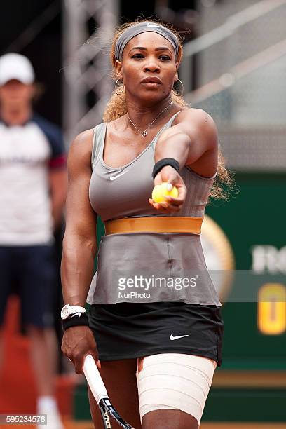 Serena Williams the EEUU against Shuai Peng during the Mutua Madrid Open Masters 1000 tennis tournament played at the Caja Magica complex in Madrid...