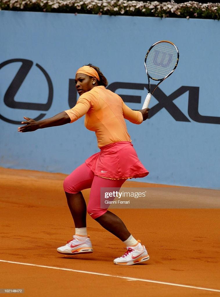 Serena Williams, USA, in the tennis 'Mutua Madrilena Madrid Open', 8th May 2010, 'La Caja Magica', Madrid, Spain.