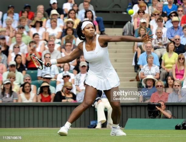 Serena Williams v Zheng Jie in the Wimbledon Tennis Championships Ladies Semi- Final 3rd July 2008.