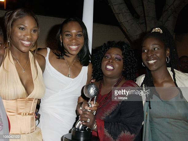 Serena Williams Venus Williams Angie Stone and Phyllis Yvonne Stickney