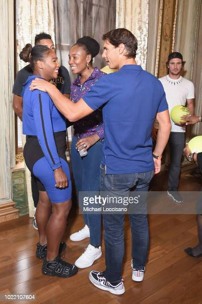 Serena Williams Venus Williams Rafael Nadal and Mischa Zverev attend 2018 Lotte New York Palace Invitational on August 23 2018 in New York City
