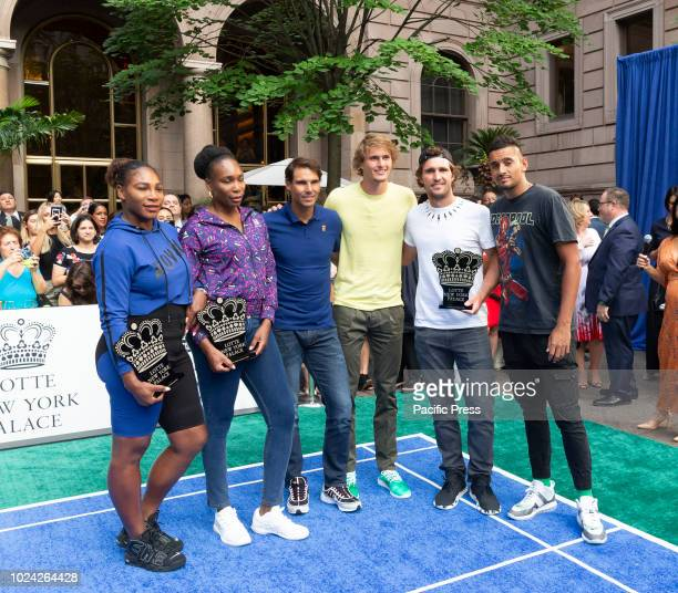 Serena Williams Venus Williams Rafael Nadal Nick Kyrgios Alexander Zverev Mischa Zverev attend Invitational Badminton Tournament at Lotte New York...
