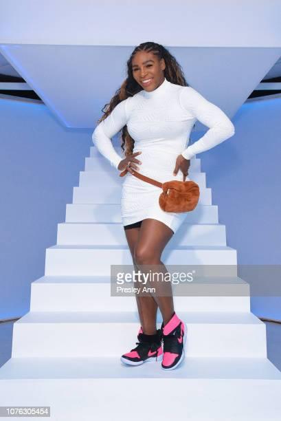 Serena Williams visits Beautycon POP in Los Angeles on December 02 2018 in Los Angeles California