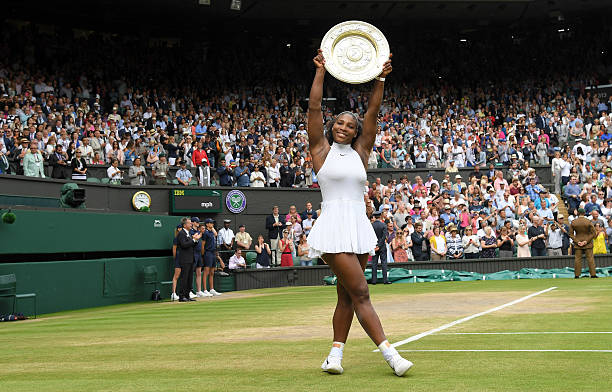 6b37710f8b Serena Williams with the winners trophy after defeating Angelique Kerber in  the women s final of the